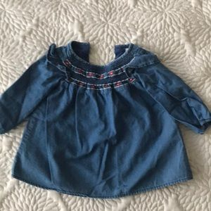 Gap Chambray dress 6-12 months